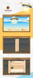 GUI Desing-Weibo Drift bottle by yingfengling-FL