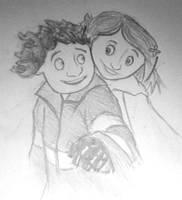 Wybie and Coraline by Savari07