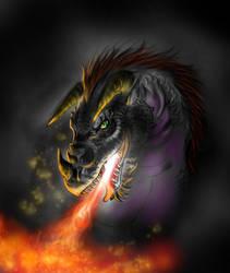 Black Dragon speedpainting by FuriarossaAndMimma