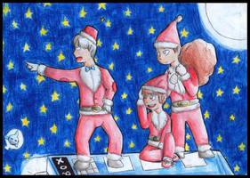 Eccly Tenny and Smithy Xmas 1 by FuriarossaAndMimma
