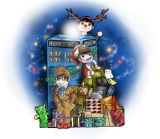 Eccly Tenny and Smithy Xmas 2 by FuriarossaAndMimma