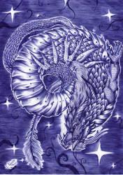 Week 29-Blue Dragon by FuriarossaAndMimma