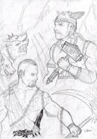 Ade vs Thor WIP by FuriarossaAndMimma