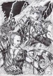 Week 30-Hades vs Thor by FuriarossaAndMimma