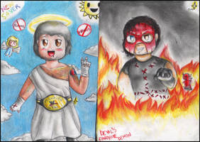 The allegory of good and evil-WWE by FuriarossaAndMimma