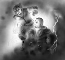 Kane vs Undertaker by FuriarossaAndMimma