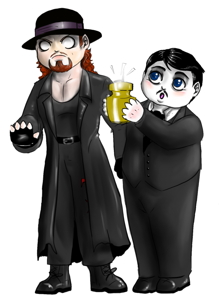 WWE - Chibi Undertaker and Paul Bearer by FuriarossaAndMimma