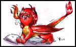 Commission - Chibi Crimson by FuriarossaAndMimma