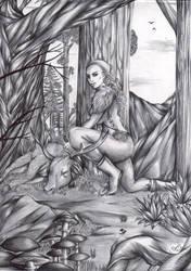 The Huntress by FuriarossaAndMimma