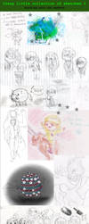 Crazy little collection of sketches 1 by FuriarossaAndMimma
