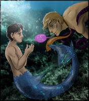 Hannibal mermaid AU - I want your voice by FuriarossaAndMimma
