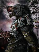 Warlord werewolf by FuriarossaAndMimma