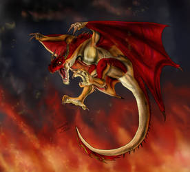 Red Wyvern 1 by FuriarossaAndMimma