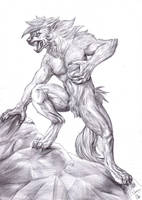 Zikeny werewolf - BW by FuriarossaAndMimma
