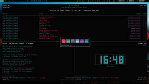 Archlinux Xmonad April 14 13 (New colorscheme) by KniRen
