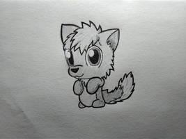 Fluffeh Furboll x3 (TRADITIONAL ART)  by MarkPajo