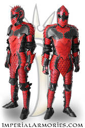 Dark  Knight Leather Fantasy Armor Suit by ImperialArmories