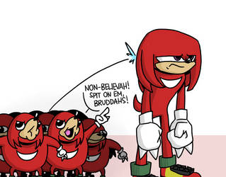 Knuckles the Non-believer by jblolz8
