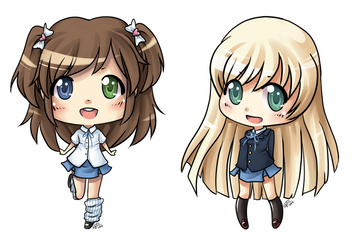 School Girls by angelnablackrobe