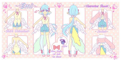 Emi Character Sheet by angelnablackrobe