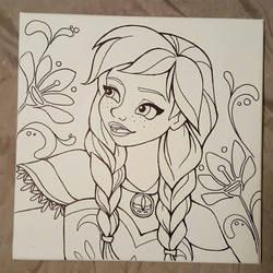 Anna canvas drawing by angelnablackrobe