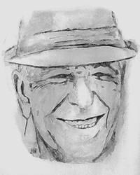 Leonard Cohen by Evahasfun