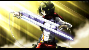 Come, Mikasa is ready to fight! by IIYametaII