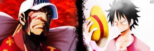 Battle of Badass: Luffy vs. Akainu by IIYametaII