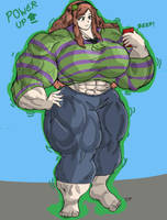 Muscle Growth Vivian James by MightyKnightBR