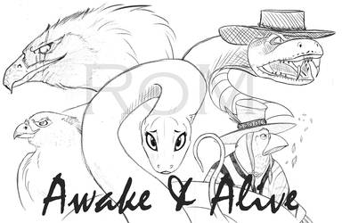 Awake and Alive Poster by The-Ravens-Of-Moraea