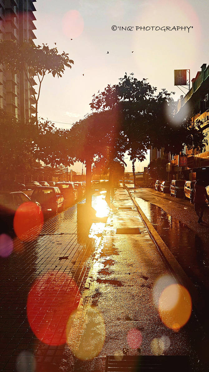 Rainy Sunset by IftikharNaseem
