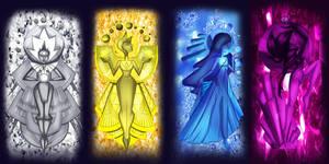 Steven Universe: The Four Diamonds by demonstardust
