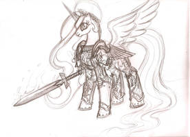 40k Ponies - The Emperess by cahook2