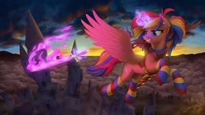 Rainbow Slash by 1Jaz