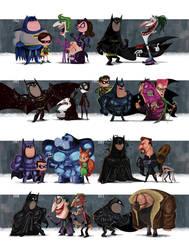 Evolution of Batman Films: the Poster Print! by JeffVictor