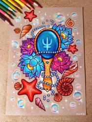 Deep Aqua Mirror - Commission by dannii-jo