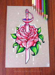 Rose Quartz Sword by dannii-jo