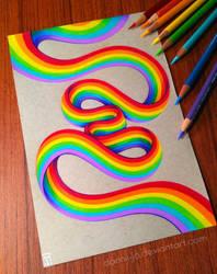 Rainbow Ribbon by dannii-jo