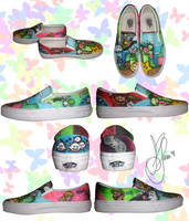 Super Mario Custom Vans by dammitxsara