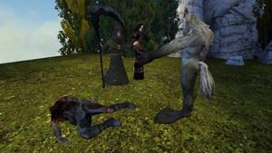 part 2 of the werewolf story. by SkullsKnight
