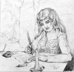 The Letter: Preliminary Sketch by MicheleHansen