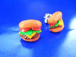 Burger Studs by Origami-Joe