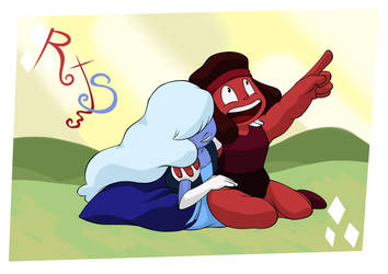 Ruby X Sapphire by sleepy-monster