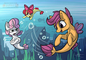 Call upon the Sea Ponies by Calenita