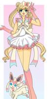 Sailor Moon Eeveelution: Sylveon by Sailor-Serenity