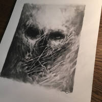 Graphite skull.   by anythingbuthumans