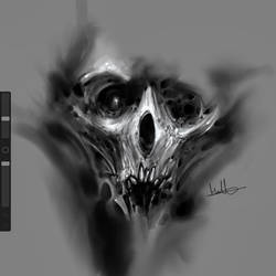 iPad skull doodle.  by anythingbuthumans