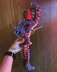 BalDron Cold Porcelain Dragon Sculpture staff by Redefined-Studios