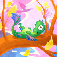 Baby Microraptor by DrZime