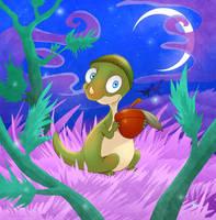 Baby Pachycephalosaurus by DrZime